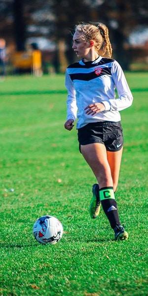 emma playing football